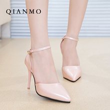 2016 Summer Luxury Pointed Toe Women Shoes Thin High Heels Female Patent Leather Pumps Zapatos Mujer Tacon Heel Chaussures Femme