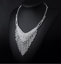 X007 Wholesale 120pcs Style V-shaped Designs Crystal Rhinestone Necklace Earrings Fashion Jewelry Sets Party Wedding Accessories(China (Mainland))