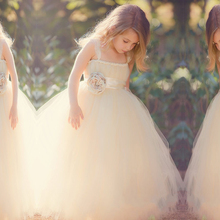 Strapless Tulle Flower Girl Dress