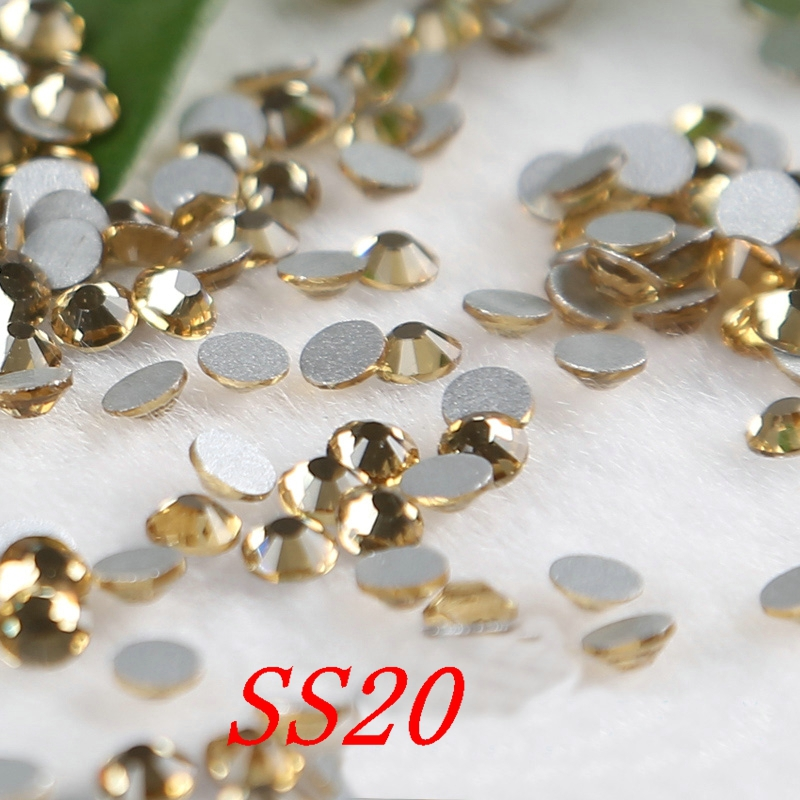 topaz SS20 FlatBack Rhinestones Glass Glitter Glue-on Loose DIY Nail Crystals appliques Stones Non Hot Fix Rhinestones(China (Mainland))