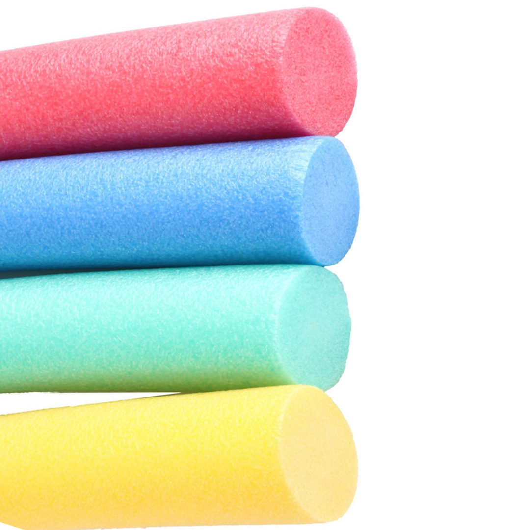 For Child Adult Water Floating Swimming Foam Pool Noodle Water Float Aid Woggle Solid Core Noodle Flexible Row Ring 6.5*150cm