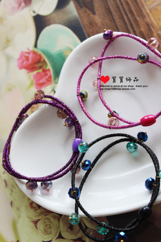 F62642 crystal wire multi element simple paragraph headband hair rope