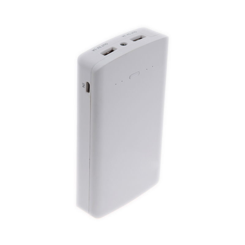 Practical Large Capacity Power Bank Ultrathin Portable External Battery Charger 10000mAh +LED Light  With 2 USB Ports<br><br>Aliexpress