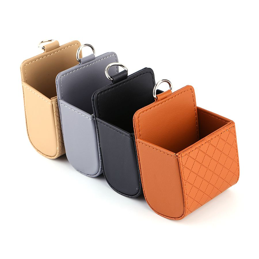 Functional Auto Car Outlet Seat Back Tidy Storage Coin Bag Case Pocket Organizer Hanging Holder Pounch Box For Iphone(China (Mainland))