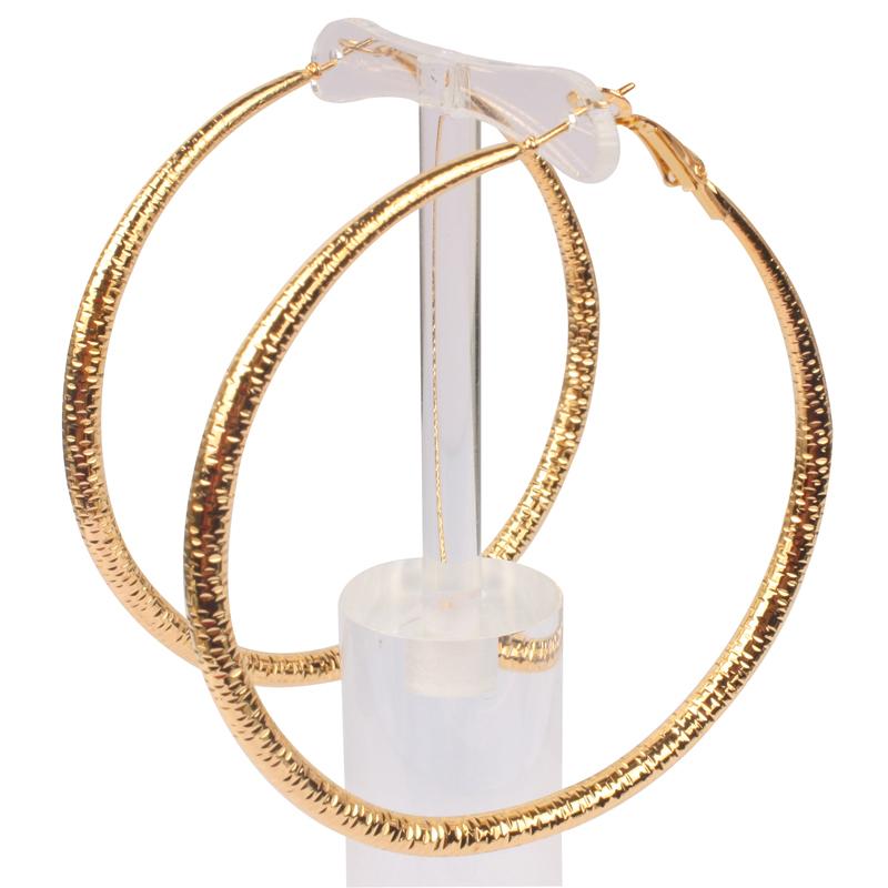 large hoop earrings 18K gold plate big loop women fashion brincos pendientes vintage boho boucle party jewelry - 1982 Jewelry Co.,Ltd store