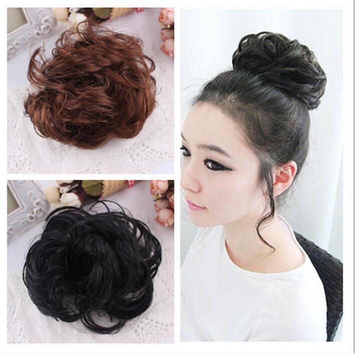 Best Selling Women Free Style Hair Curler Wig Puff Bud Elastic Hairbands Hair Ties Hair accessories JXB027(China (Mainland))