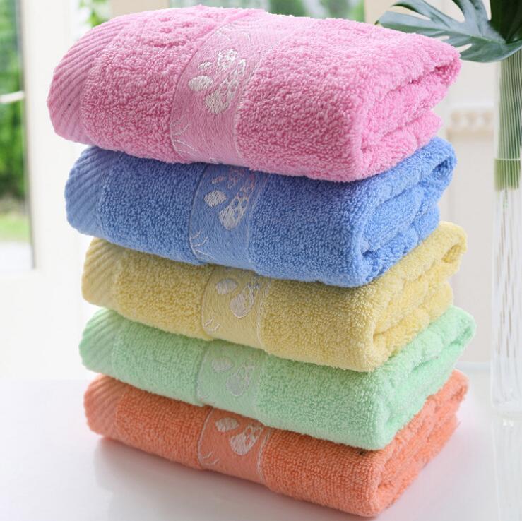 2pcs/ lot Pure Color 100% Cotton 33x74cm Face Towel for Men Women Square Luxurious Soft Cotton Fiber Face Hand Car Cloth Towel(China (Mainland))