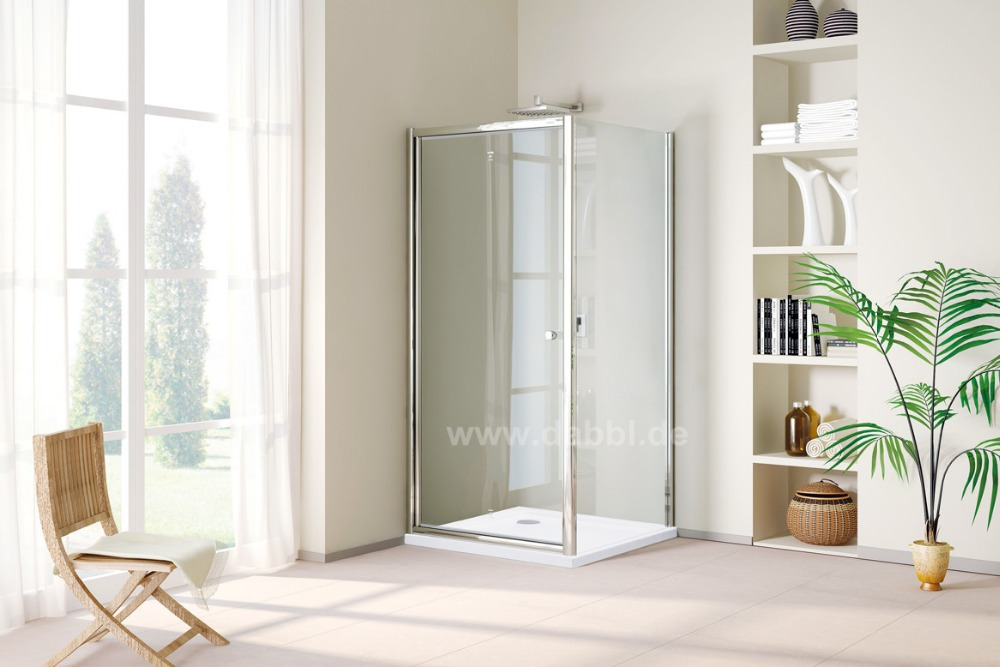 900 x 900 x 1950mm Corner Hinge Door Clear Glass Shower Cabin Enclosure With Zinc Alloy Handle DY-DF691(China (Mainland))
