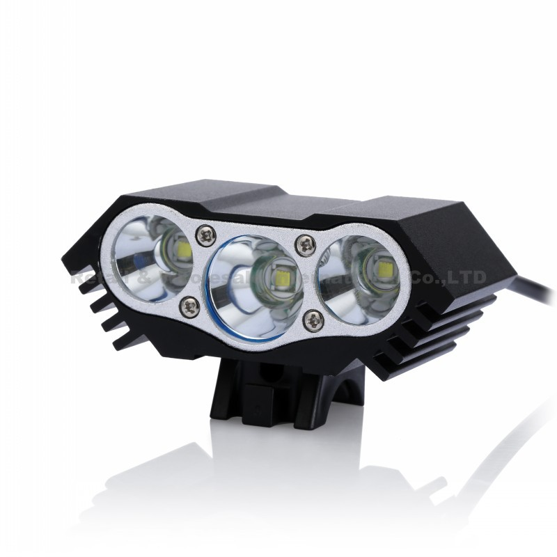 6000 Lumen 3x CREE XM-L U2 LED Head Front Bicycle bike HeadLight Lamp Light Headlamp 4x18650 Battery with Charger