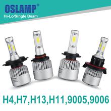 Oslamp Hi-Lo Beam/Single Beam COB H4 H7 H11 H13 9005(HB3) 9006(HB4) 72W/pair 6500K LED Car Headlight Auto Led Head Lights SUV - TM store