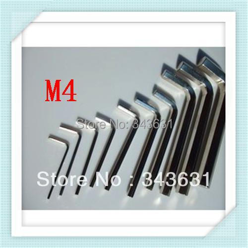 free shipping M4 hex key allen Wrench Spanner fixing tools (100PCS)