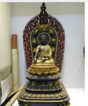 "Copper Brass CHINESE crafts decor Asian  voge joya 36 "" Tibet 100% de bronce puro 24 K oro Gild pintado Sakyamuni buda Amitabha(China (Mainland))"