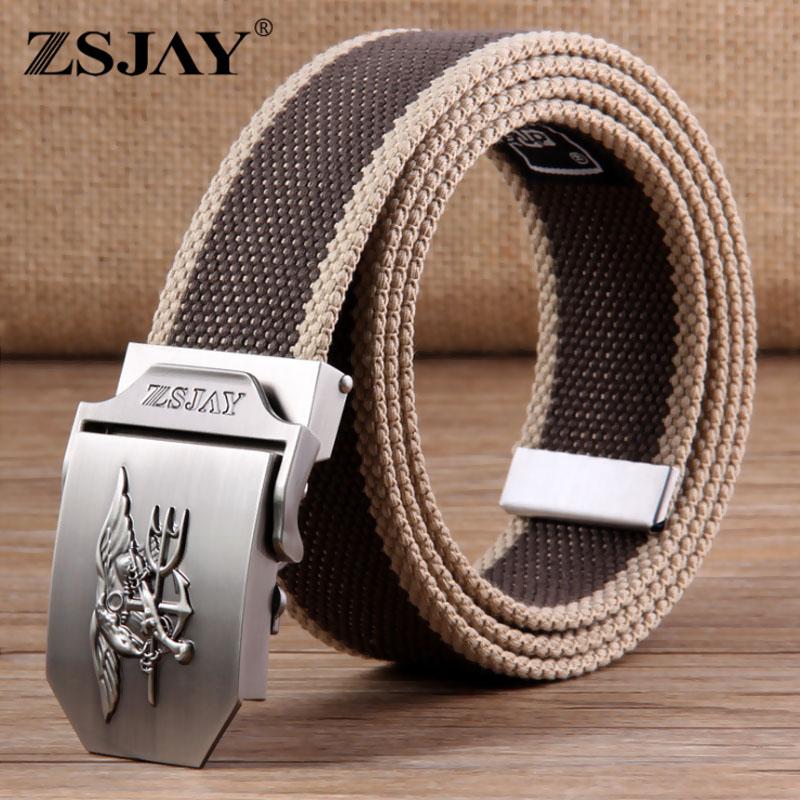 2016 New Canvas Military Belt Men's Sport Designer Belts Military Equipment Z-2406()