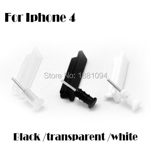 one set Anti Jack Dust Dock Cover Headphone Cap Plug Stopper for iPhone 4 4s wholesale 1000set by dhl(China (Mainland))