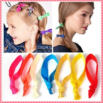 American Style Candy Color Hair Ropes Women Girls Ladies Fashion Brand Hair Tie Elastic Hair Bands 10PCS/LOT Accessories #JH010