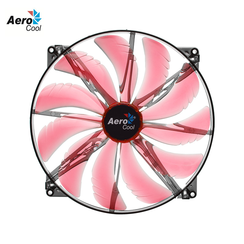 Aerocool Silent Master 200mm Fan Computer Case Cooling Fan 200mm 12V 4Pin&3Pin Red Edition For Computer Silence 20cm Fan(China (Mainland))