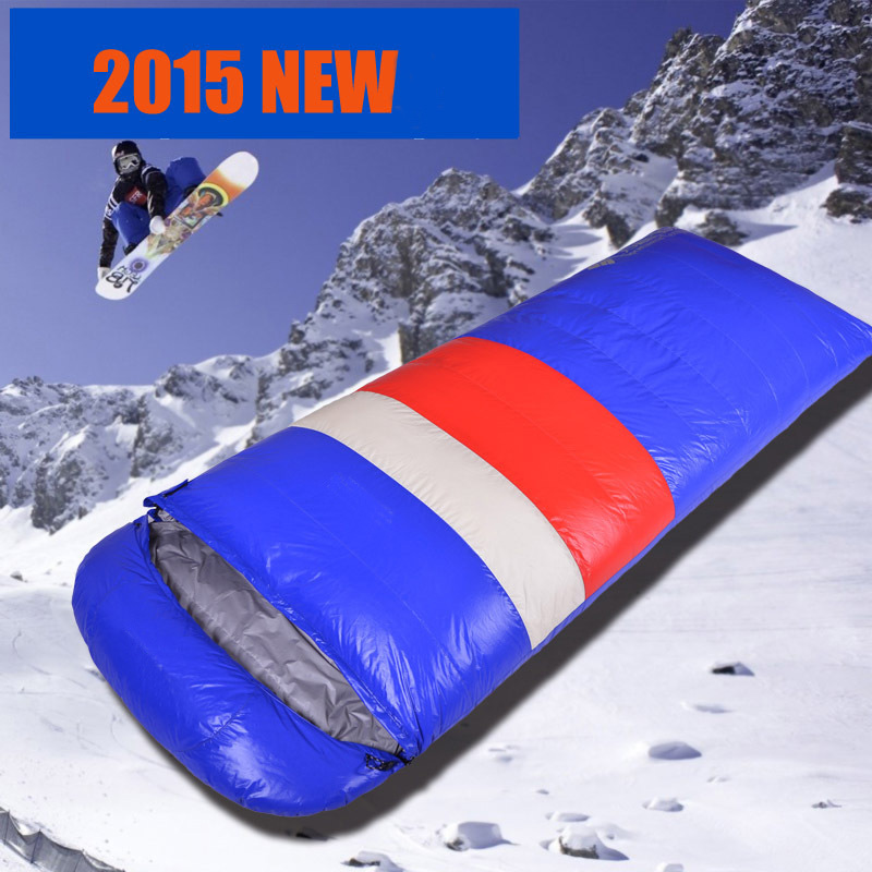 The new lightweight fill 1200g/1500g/1800g/2000g white goose down outdoors can be spliced envelope type goose down sleeping bag<br><br>Aliexpress