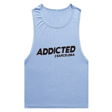 2016 NEW Gym Clothing ADDICTED Spanish fashion brand sexy men's breathable sports vest printing Cotton tank top men stringer - Vicky world's garment co., LTD store