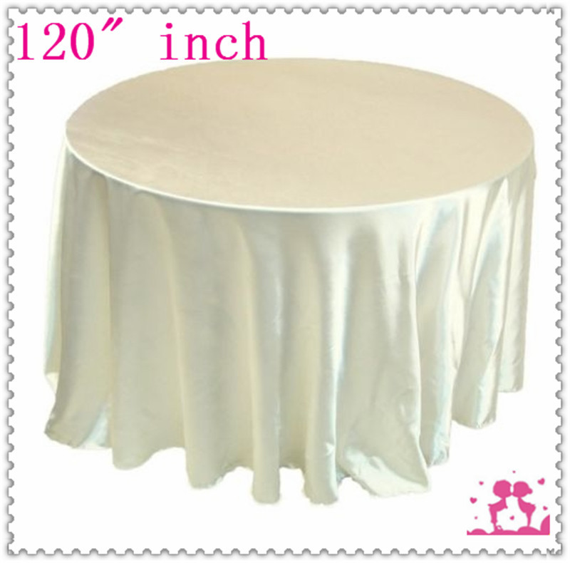 15pcs 120'' Round Satin Tablecloths for Weddings round table clothes(China (Mainland))
