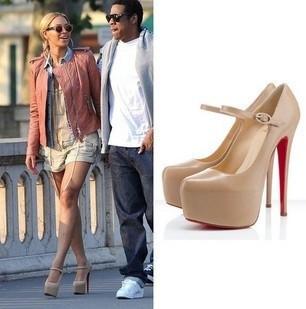 2013 summer fashion ultra high platform thin heels red sole high-heeled shoes - Sofia ' store
