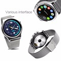 Bluetooth 4 0 SmartWatch heart Rate Smart Watch Pedometer Clock IPS Round Screen Life Water Resistant