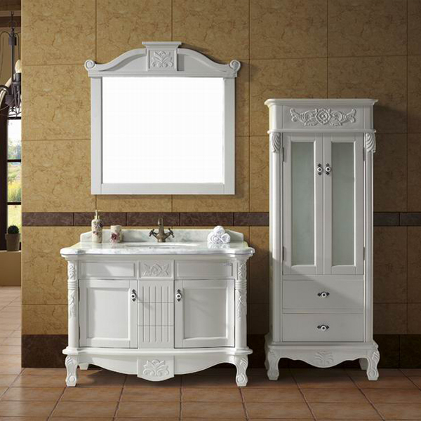 antique white wood bathroom furniture cabinets hs