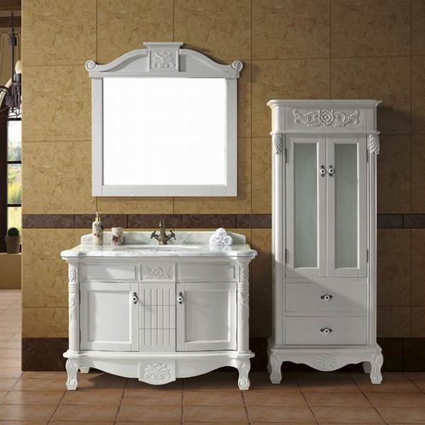 antique white wood bathroom furniture cabinets hs. Black Bedroom Furniture Sets. Home Design Ideas