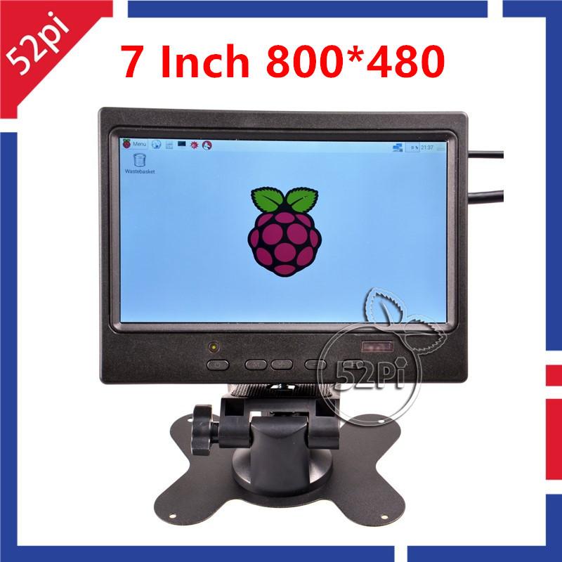 7 inch TFT Monitor Screen 800*480 LCD Display for Raspberry Pi 3/ Pi 2/ B+/ A+(China (Mainland))