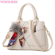 Fashion Sweet Lady Scarves Handbags Designers Fashion White Shoulder Bag High Quality PU Leather Totes for Female Messenger Bags(China (Mainland))