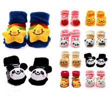 Cute Newborn Lovely Baby Girl Boy Unisex Anti slip Socks Animal Boots 0 6 Months