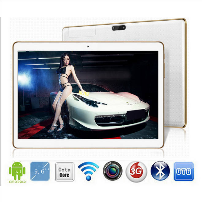 DHL Free Shipping 9.6 inch tablet octa core MTK8752 3G GPS Android 5.1 4GB/32gb Dual Camera 5.0MP 1280*800 IPS Screen(China (Mainland))