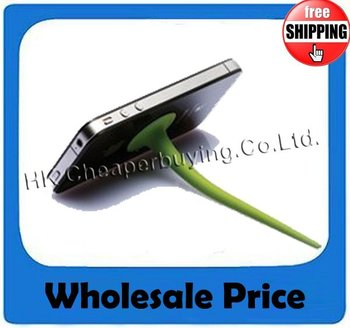 Free Shipping Wholesale 20pcs/lot Silicone Tail Stand Holder for iPod iPhone Mi ONEMeizu MX, #SKU029
