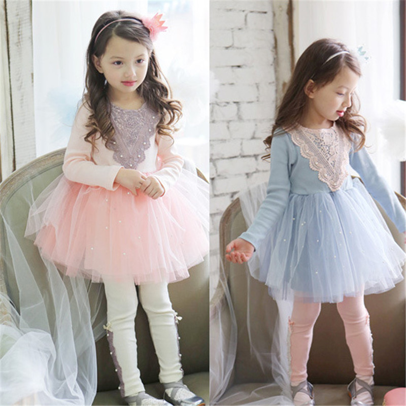 2015 New Princess Dresses for Girls New Year Costumes for Children Girl Dress Autumn Child Clothing Brand Kids Cotton Dress 2-6T(China (Mainland))