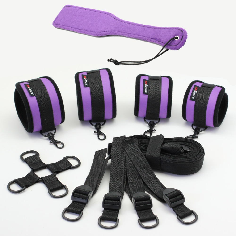 Multifunction Purple Sponge Sex Restraint, Underbed restrain, hogtied restrain, spanking paddle restraint sex products RK-9D(China (Mainland))