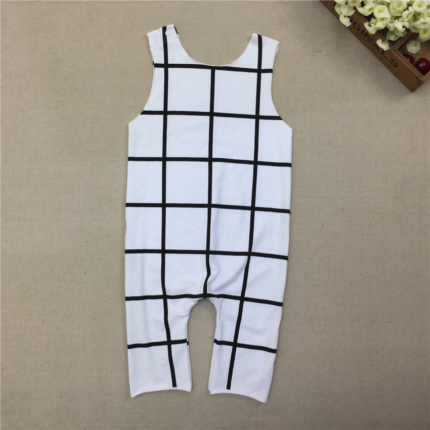 2016 New Baby Boys Girls Summer Romper Infant Pajamas Jumpsuit Newborn Cotton Clothing E25(China (Mainland))