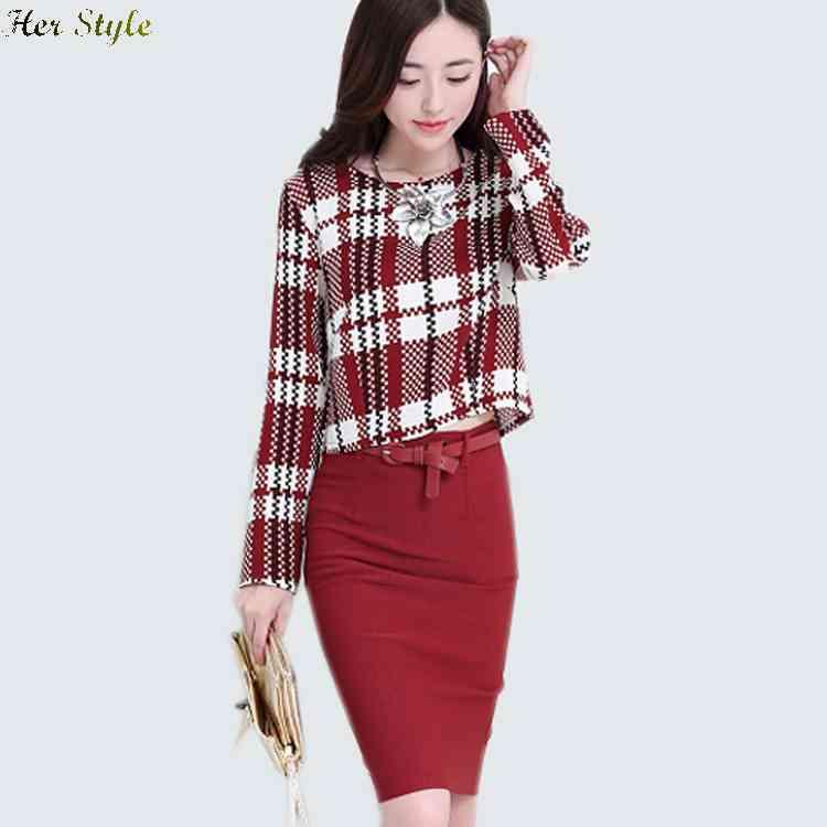 Free Shipping new stylish spring and autumn Plaid jacket bag hip dress ladies suit belt 1430739978(China (Mainland))