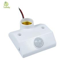 Tanbaby E27 Base Automatic Body indoor LED Bulb Light AC170V-250V Infrared IR Sensor PIR Motion Detector E27 Holder Socket(China (Mainland))