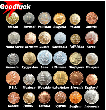 30 Coins Collection Set From 30 Countries Fine Coins And 100% Original Genuine coins original set collecting coins original(China (Mainland))