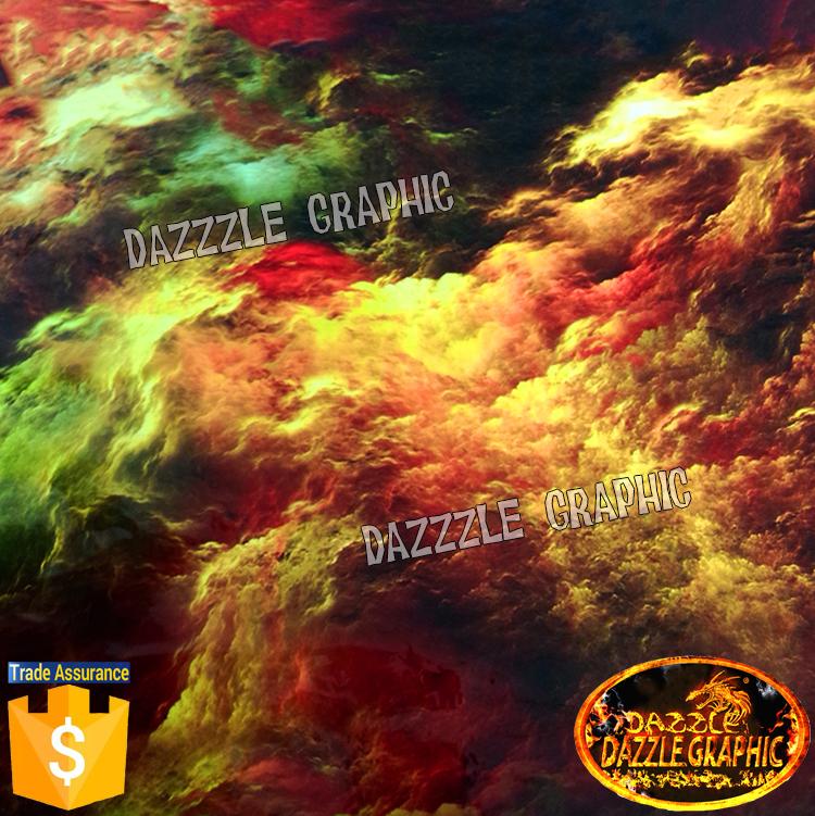 Splendid Nebula No.DGJJ791 Water Transfer Printing Excellent Quality Dazzle Hydrographic Film Width0.5M Hdyrographics Film(China (Mainland))