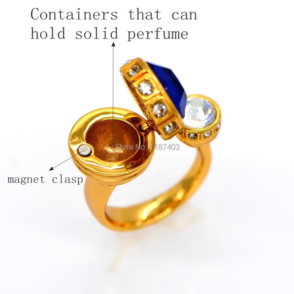 New trend in fashion solid perfume ring is the best jewelry gift to men and women to the PROM R70076(China (Mainland))