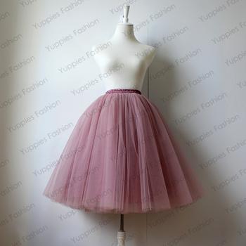5 Layers Maxi Long Tulle Skirt Summer Style Midi Skirts Womens Pleated Adult tutu Faldas Saias Femininas Plus Size YFS040165