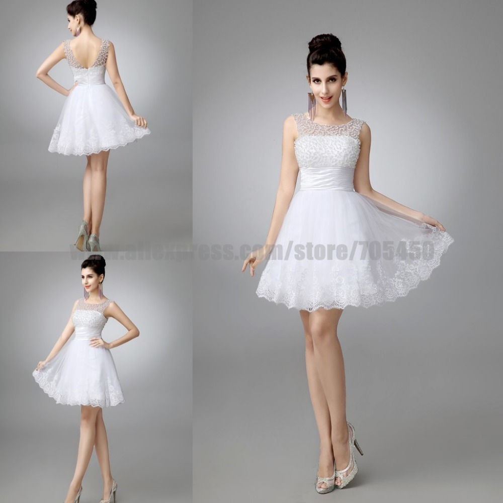 100 real new 2015 white short wedding dresses the bride for Good wedding dresses for short brides