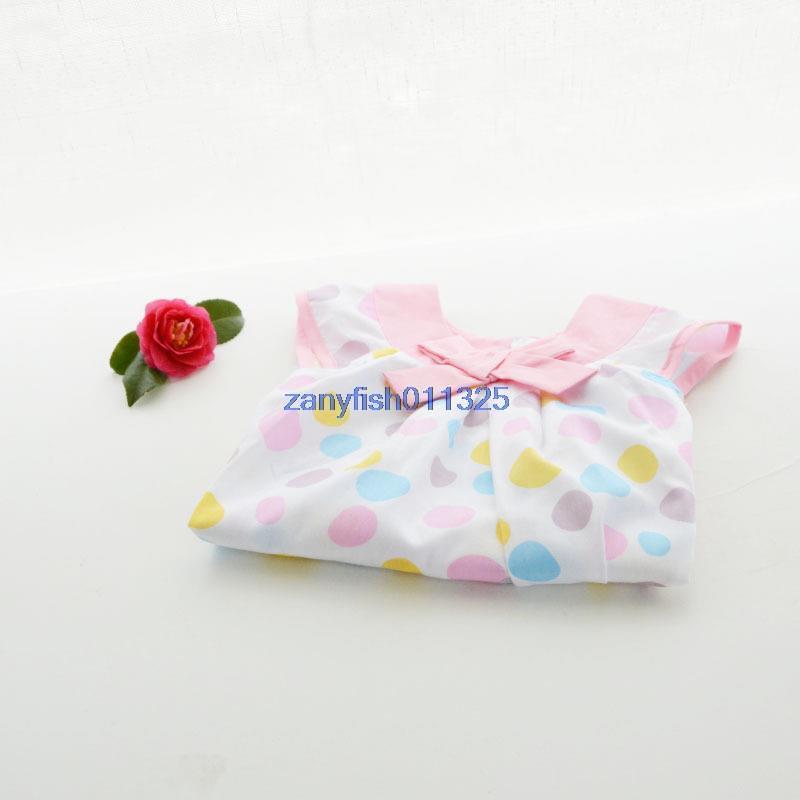 YQ Australia single dot cotton girls dress princess dress butterfly sleeve boats(China (Mainland))