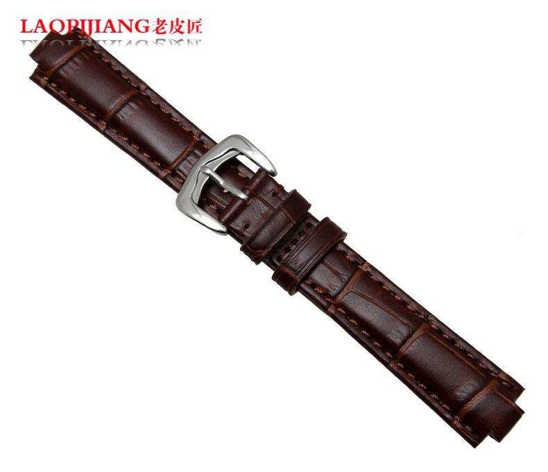 Laopijiang телячьей кожи кожаный ремешок выпуклые рот ремешка аксессуары подходят для мужчин и женщин W6900456 14 x 8 / 20 x 12 мм