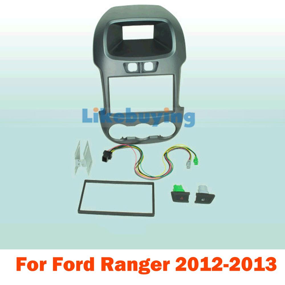 2 Din Car Kit / Car Fascia Panel / Audio Panel Frame / Car Dash Frame Kit For Ford Ranger 2012 2013 Retail / Pcs Free Shipping(China (Mainland))
