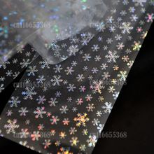 1pc/lot 1 Roll of 56 Design Many Flowers Nail Art Glue Transfer Foil Tips Sticker Silver Snow Flake Sparkle Shine GL81