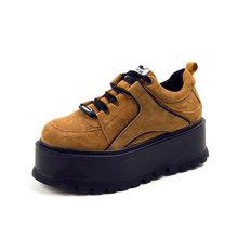 Aphixta פלטפורמת שרוכים קרסול חורף נעלי מגפי נשים גבוהה באיכות גובה הגדלת גבירותיי נעלי פרה זמש למטה אופנה אתחול(China)
