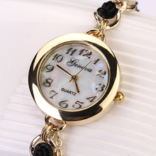 Popular Luxury Women's Dress Design Geneva Faux Pearl Flower Bracelet Quartz Analog Dress Wrist Watch NO181 5V7J 3Y3FD