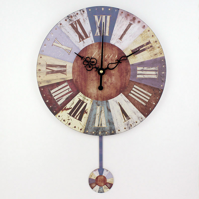 ultralarge silent wall clock fashion modern rustic antique f