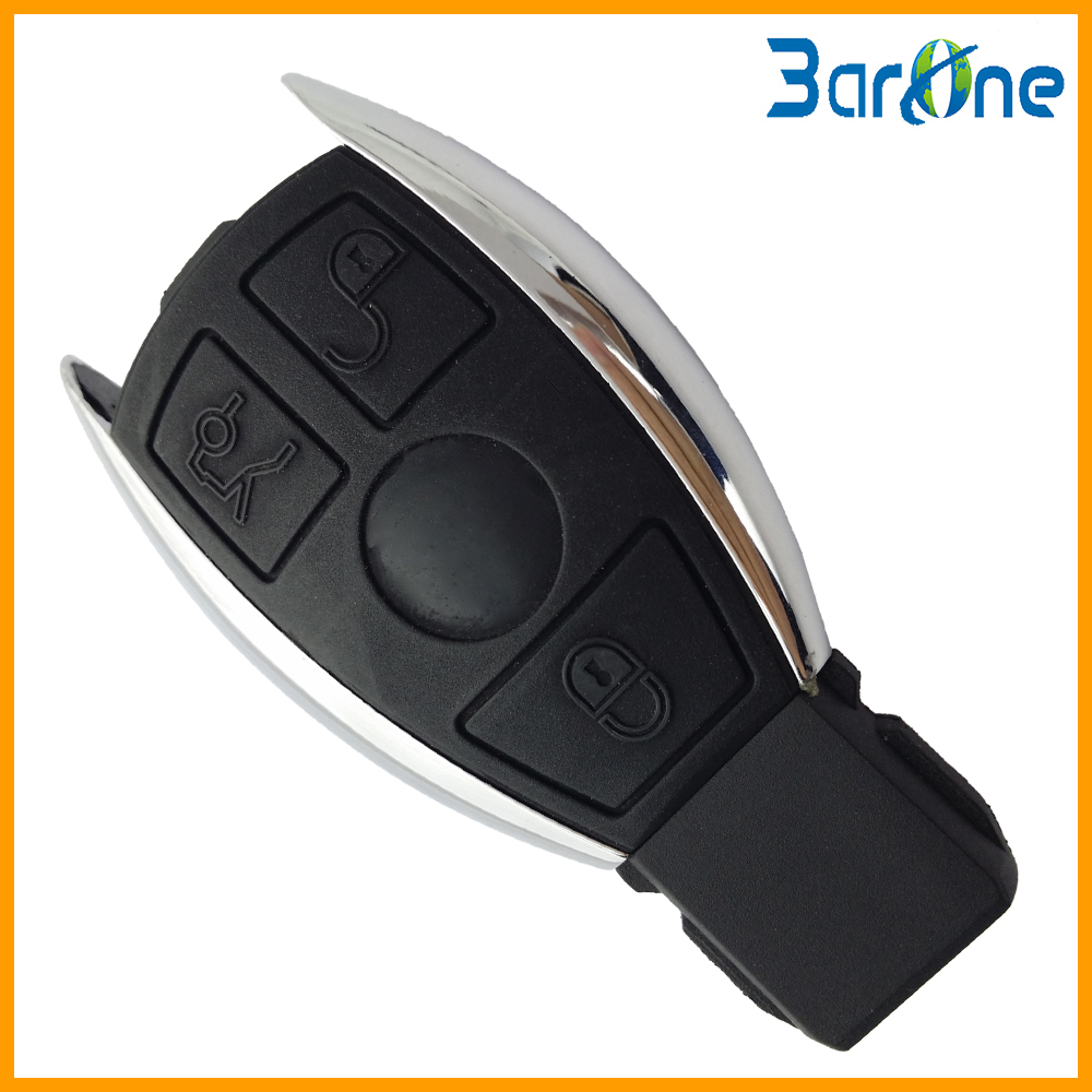 Russia 3 three button with uncut blade no logo replacement for Mercedes benz keys replacement cost
